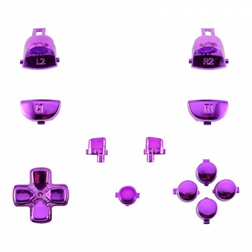 Gâchettes PS4 chrome violet manette personnalisée Draw my Pad