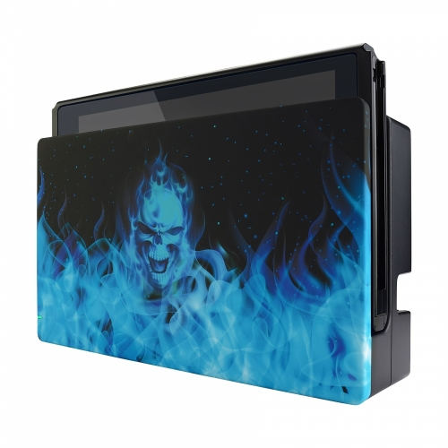 Coque Dock custom Blue Fire- Console Switch personnalisée - Draw my Pad - face droite
