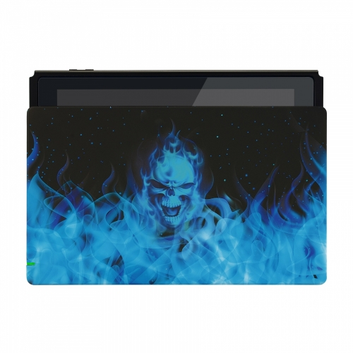 Coque Dock custom Blue Fire- Console Switch personnalisée - Draw my Pad - face