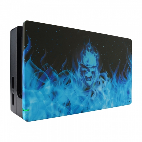 Coque Dock custom Blue Fire- Console Switch personnalisée - Draw my Pad - face gauche