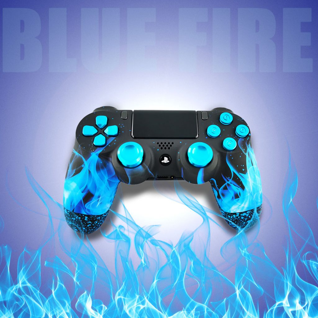 Manette PS4 personnalisable Blue Fire - Draw my Pad