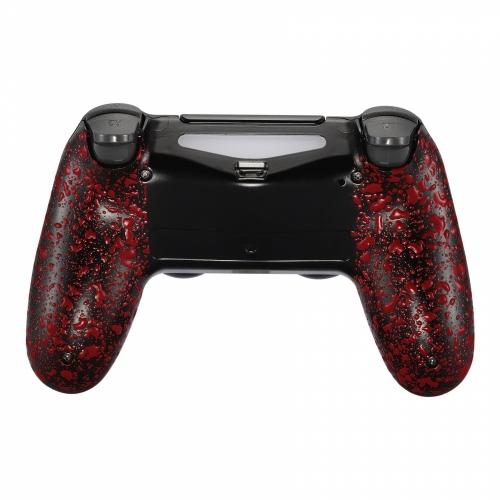 Coque PS4 arrière grips rouge manette personnalisée Draw my Pad