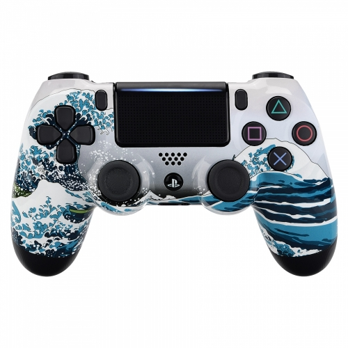 Coque manette PS4 custom La Grande Vague de Kanagawa pour manettes PS4