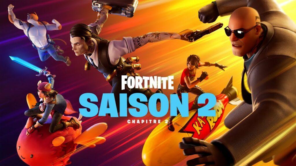 Fortnite saison 2 présentation des nouveautés, skins, battle pass, etc.