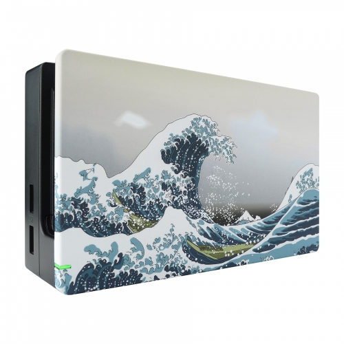 Coque Dock custom Grande Vague- Console Switch personnalisée - Draw my Pad - face gauche