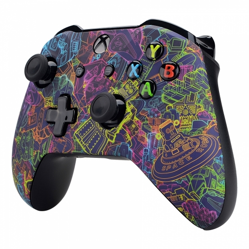 Manette Xbox One S/X custom Space Robot - Personnalisation manette Xbox One - Draw my Pad-droit