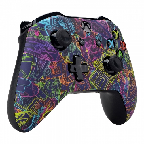 Manette Xbox One S/X custom Space Robot - Personnalisation manette Xbox One - Draw my Pad-gauche