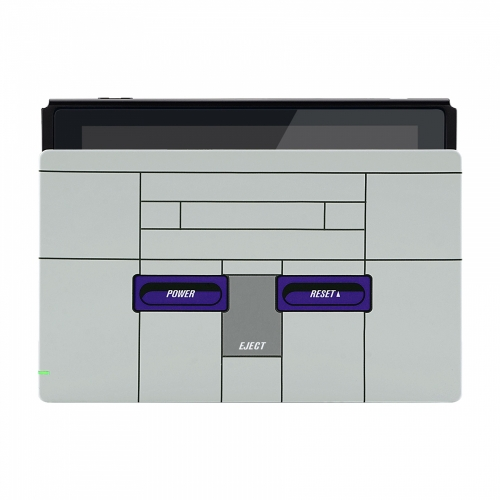 Coque Dock custom SNES White- Console Switch personnalisée - Draw my Pad - face