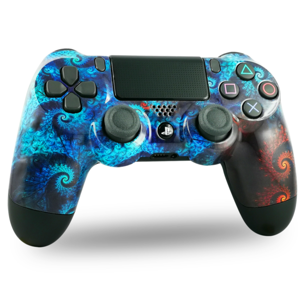 coque-PS4-custom-playstation-4-sony-personnalisee-drawmypad-aqua-spirale
