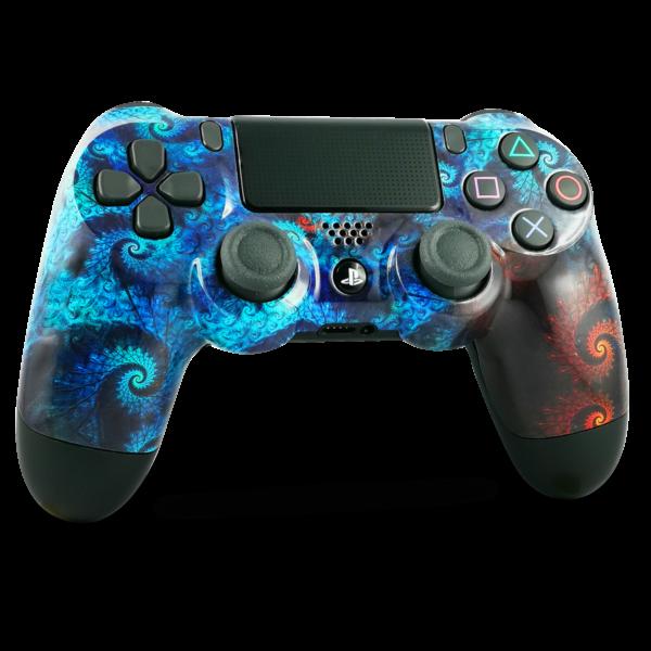 coque-PS4-custom-playstation-4-sony-personnalisee-drawmypad-aqua-spirale