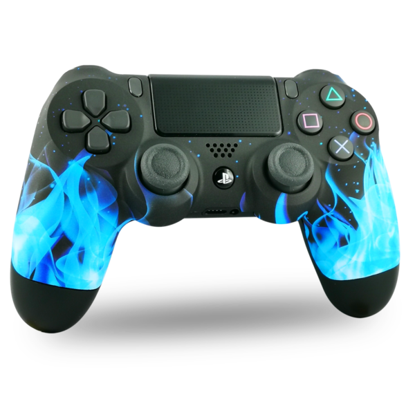 coque-PS4-custom-playstation-4-sony-personnalisee-drawmypad-blue-fire