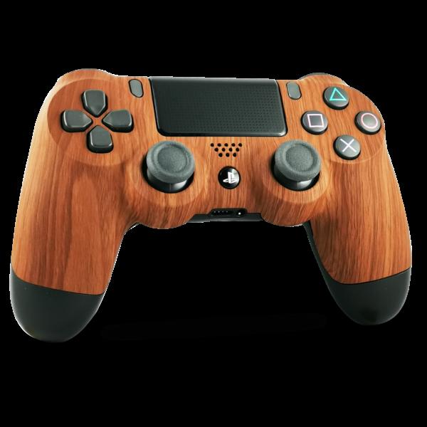 coque-PS4-custom-playstation-4-sony-personnalisee-drawmypad-wood