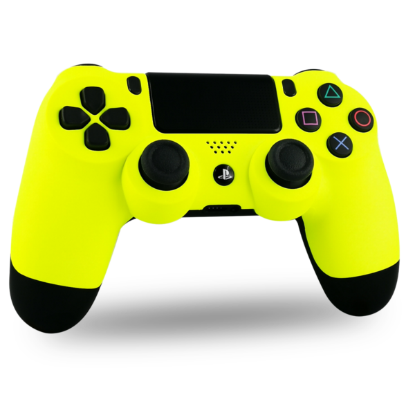 coque-PS4-custom-playstation-4-sony-personnalisee-drawmypad-yellow-soft-touch