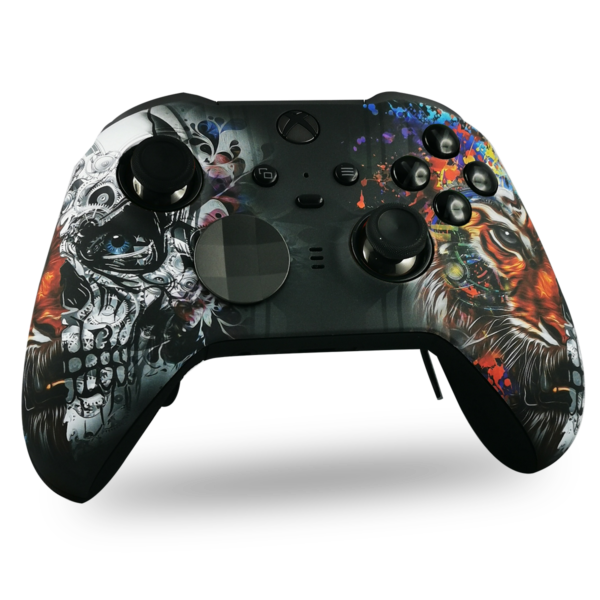 coque-XBOX-custom-elite-serie-2-personnalisee-drawmypad-tiger-skull