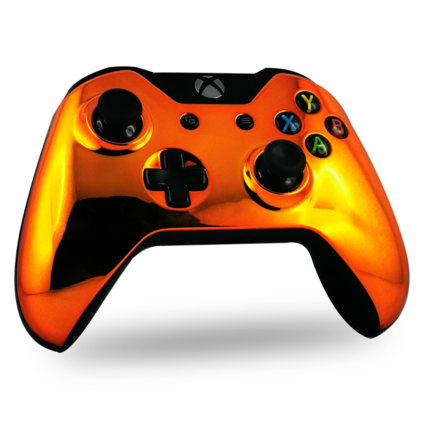 coque-XBOX-one-custom-personnalisee-drawmypad-orange-chrome