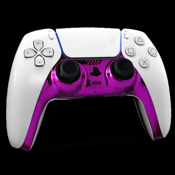 coque-centrale-manette-ps5-custom-chrome-violet-personnalisation-dualsense-drawmypad