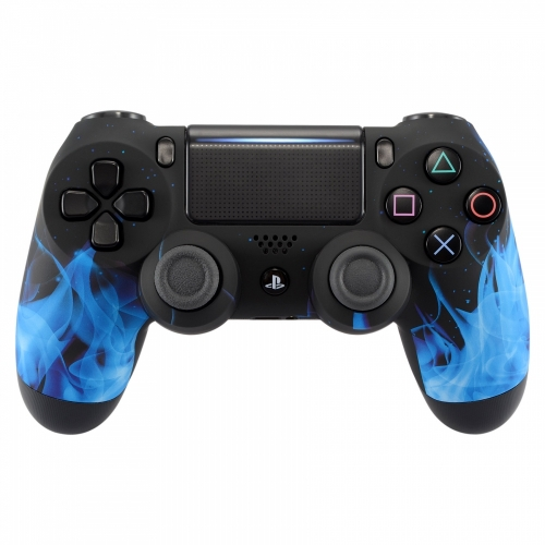 Personnalisation manette PS4 - Manette PS4 Blue Fire - Draw my Pad