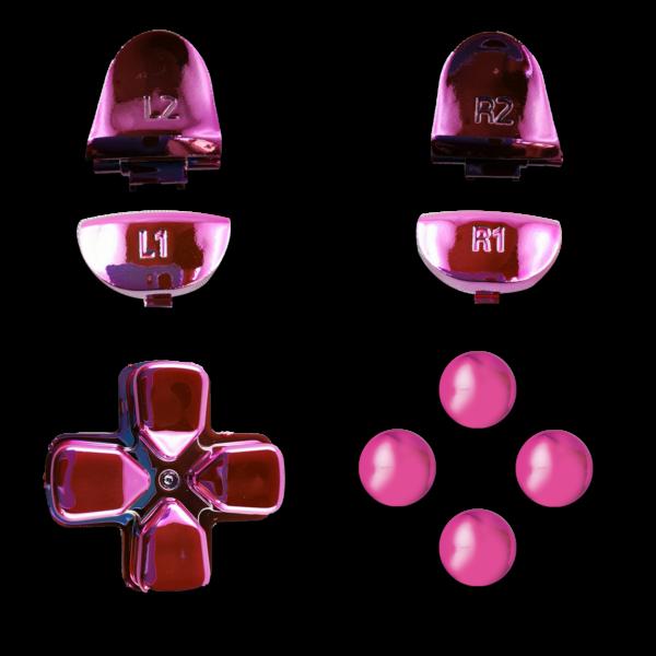kit-PS4-custom-manette-personnalisee-drawmypad-chrome-rose
