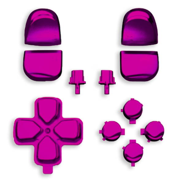 kit-boutons-gachettes-PS5-rose-chrome-custom-manette-dualsense-personnalisee-drawmypad