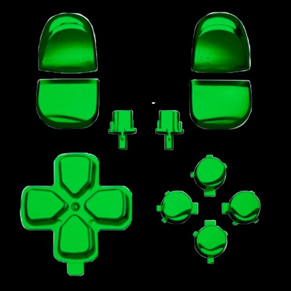 kit-boutons-gachettes-PS5-vert-chrome-custom-manette-dualsense-personnalisee-drawmypad