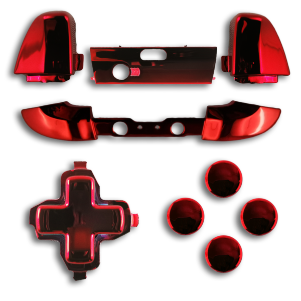 kit-XBOX-custom-manette-personnalisee-drawmypad-chrome-rouge