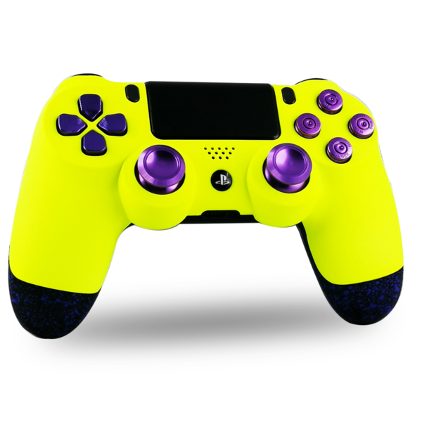 kit-coque-boutons-PS4-custom-playstation-4-sony-personnalisee-drawmypad-yellow-sunshine