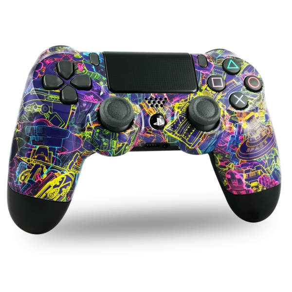 manette-PS4-custom-playstation-4-sony-personnalisée-drawmypad-space-robot