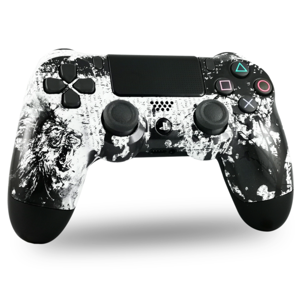manette-PS4-custom-playstation-4-sony-personnalisee-drawmypad-white-lion