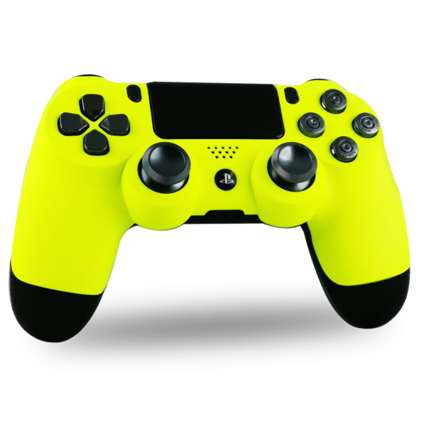 manette-PS4-custom-playstation-4-sony-personnalisee-drawmypad-black-and-yellow