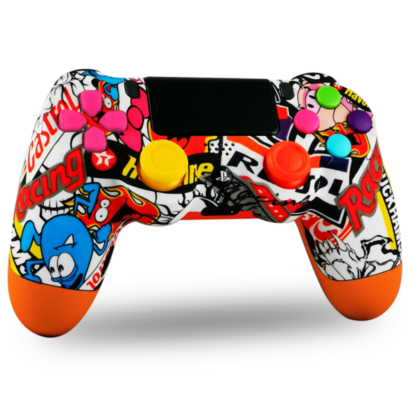 manette-PS4-custom-playstation-4-sony-personnalisee-drawmypad-cartoon