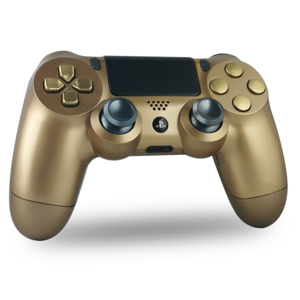 manette-PS4-custom-playstation-4-sony-personnalisee-drawmypad-gold-black