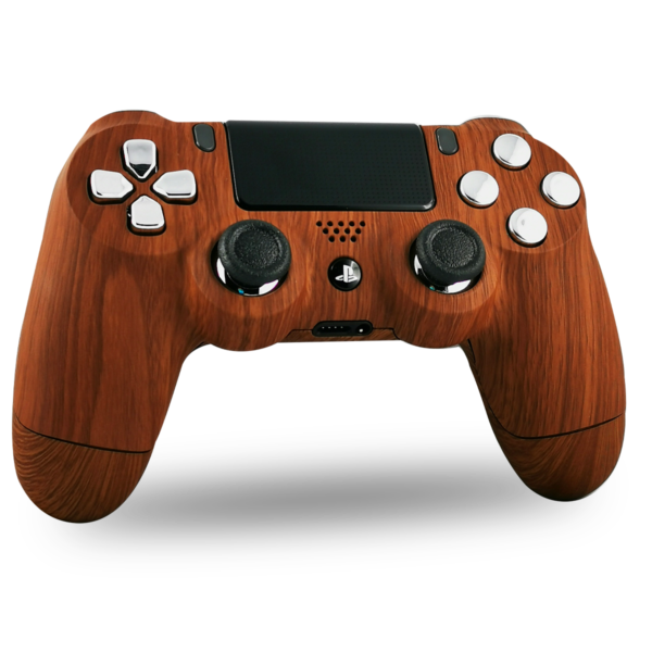 kit-coque-boutons-custom-PS4-playstation-4-sony-personnalisee-drawmypad-woodie-wood