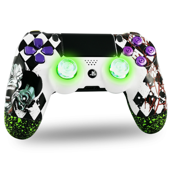 manette-PS4-custom-playstation-4-sony-personnalisee-drawmypad-is-this-a-joke-joker-led
