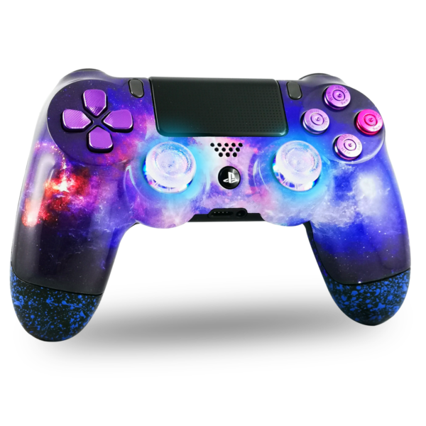 manette-PS4-custom-playstation-4-sony-personnalisee-drawmypad-nebuleuse-led-bleu