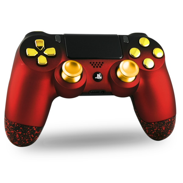manette-PS4-custom-playstation-4-sony-personnalisee-drawmypad-red-gold