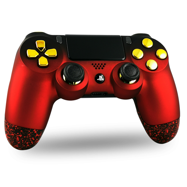 manette-PS4-custom-playstation-4-sony-personnalisee-drawmypad-soft-touch-red-gold