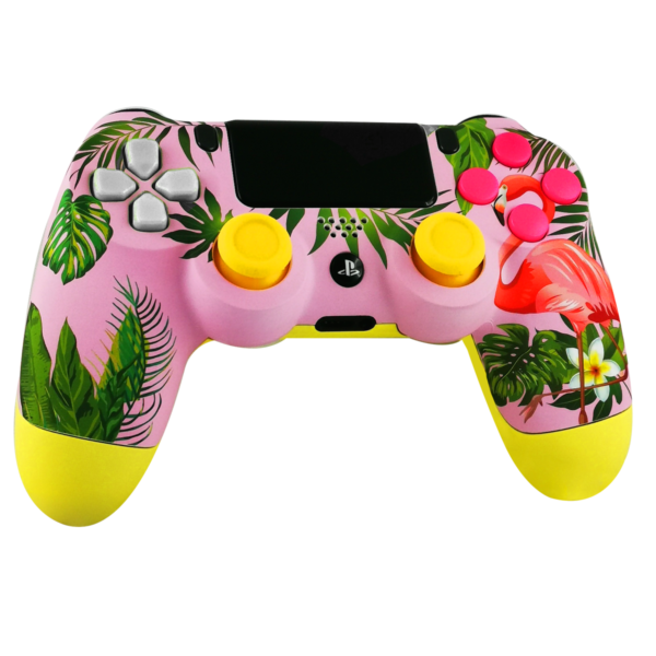 manette-PS4-custom-playstation-4-sony-personnalisee-drawmypad-welcome-to-paradise-croix-blanche