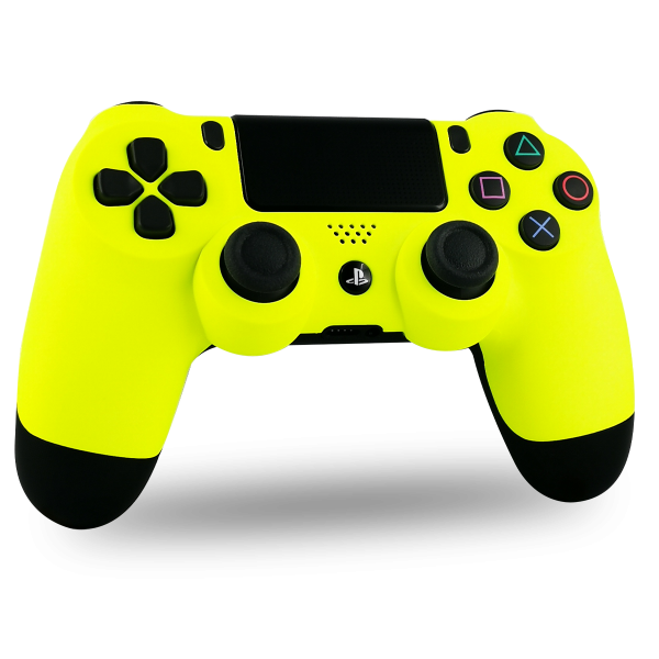 manette-PS4-custom-playstation-4-sony-personnalisee-drawmypad-yellow-soft-touch