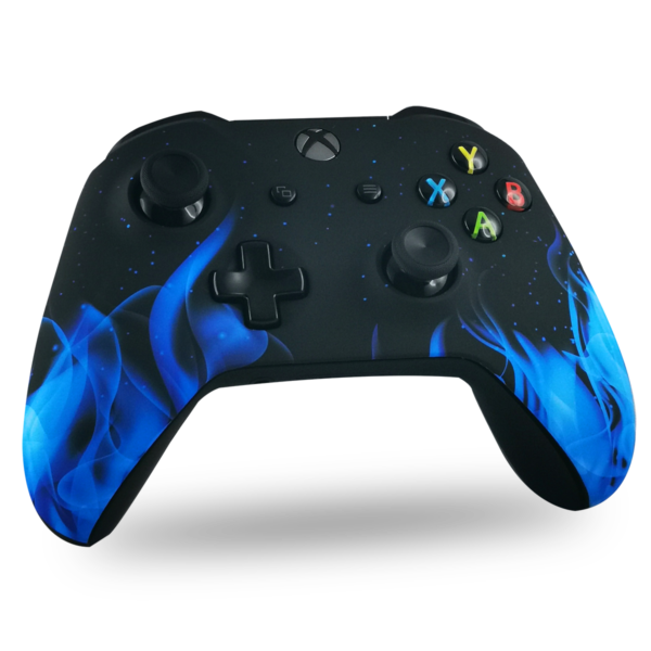 coque-XBOX-custom-X-personnalisee-drawmypad-blue-fire