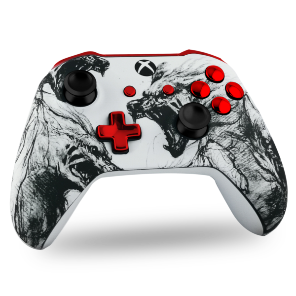 manette-XBOX-one-custom-X-personnalisee-drawmypad-death-is-coming-chrome