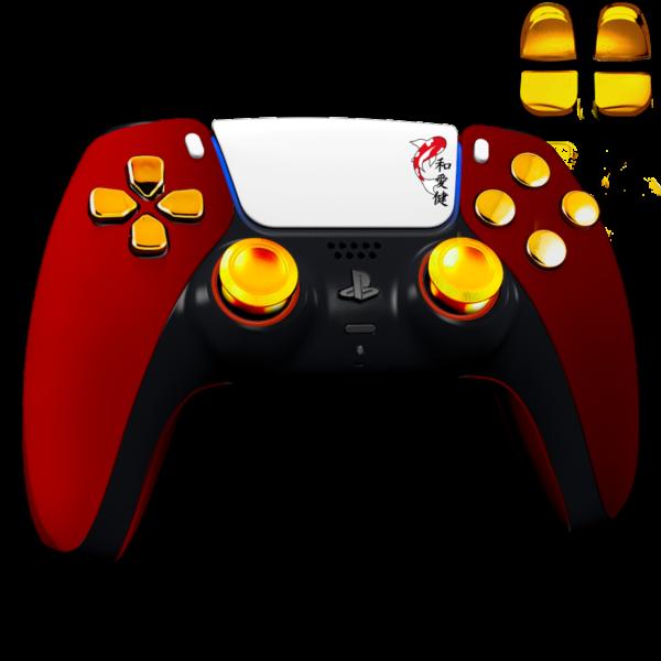manette-ps5-custom-gold-red-tokyo-dualsense-personnalisee-drawmypad