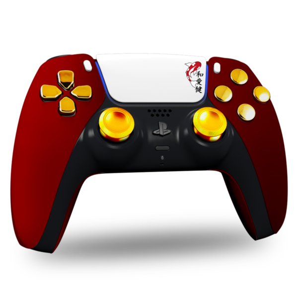 manette-ps5-sony-custom-playstation-personnalisee-red-gold-logo