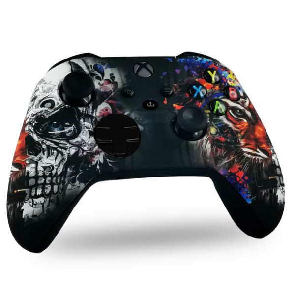 manette-xbox-series-x-custom-tiger-skull-manette-personnalisee-xbox-series-s-draw-my-pad